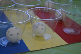 Cheap Easy And Brilliant DIY Carnival GamePlastic Cups Hot Glued Onto Cardboard