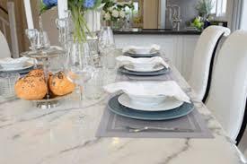 Custom White Marble Table Top In Milwaukee Home