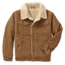 bocini boys u0027 sherpa faux fleece lined corduroy trucker jacket
