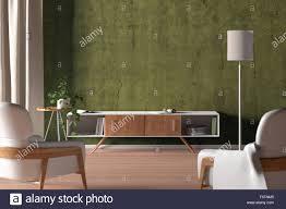 tv schrank in der modernen wohnzimmer mit leere gelbe wand