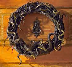 Grandin Road Halloween Wreath by Animated Snake Wreath U2013 Because There U0027s No Such Thing As Overdoing