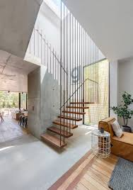 CO-AP Adds Contemporary Concrete And Glass Extension To Sydney ... Modern Staircase Design With Floating Timber Steps And Glass 30 Ideas Beautiful Stairway Decorating Inspiration For Small Homes Home Stairs Houses 51m Haing House Living Room Youtube With Under Stair Storage Inside Out By Takeshi Hosaka Architects 17 Best Staircase Images On Pinterest Beach House Homes 25 Unique Designs To Take Center Stage In Your Comment Dma 20056 Loft Wood Contemporary Railing All