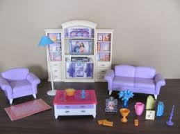 Barbie Living Room Furniture Set by Barbie Beach Bungalow Doll House Mattel