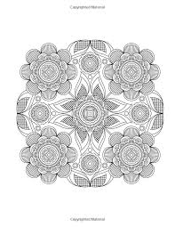 Flower Design Coloring Page