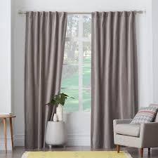 Dkny Modern Velvet Curtain Panels by Velvet Pole Pocket Curtain Dove Gray West Elm