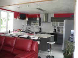 et cuisine cuisine noir et great deco cuisine noir et gris photo d c aco