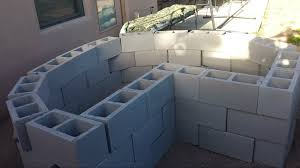 How to make concrete blocks secure in raised bed garden