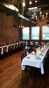 The Room Upstairs At Bakers Kitchen Offers Private Dining For Up To 65 Guests Original Hardwood Floors Exposed Brick Walls And View Overlooking