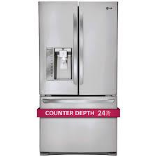 Samsung Cabinet Depth Refrigerator Dimensions by Lg 24cuft 3 Door French Door Ultra Capacity Counter Depth