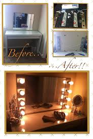 Diy Vanity Desk With Lights by Diy Hollywood Makeup Vanity Light Mirror With Click Remote To Turn