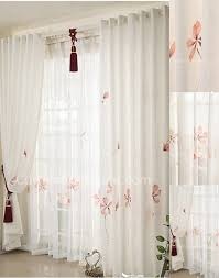 Nicole Miller Home Chevron Curtains by White Floral Country Pastoral Style Kids Curtains Online