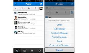 Dropbox iOS app s swipe gesture support multi photo sharing