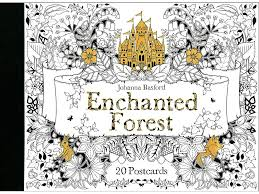 Laurence King Pub Enchanted Forest Coloring Postcd