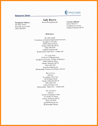 100 Reference Page Resume 1213 Sample Reference Pages For Resume Lascazuelasphillycom
