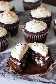Jumbo Chocolate Birthday Cupcakes a decadent chocolate cupcake with a cream cheese and