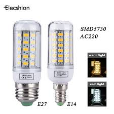 led corn e27 e14 ac 220v bulbs l light source led lights