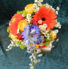 This Matched The Lego Pieces Which Would Adorn Venue We Agreed On Gerbera Delphinium Ranunculus Tulips Daisy And Bupleurum