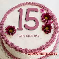 Happy 15th Birthday Cake With Name Editor 2HappyBirthday