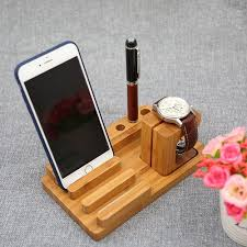 Wood Smartphone Stand Pen Holder Phone