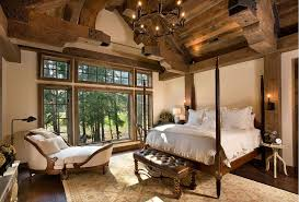 Image Of Bedroom Rustic Lodge Style House Plans