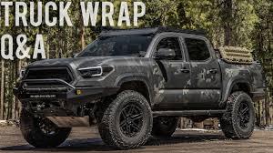 100 Wrapped Trucks Multicam Black Tacoma Pt 1 Vehicle Wrap QA At Front Range Auto OverlandOffroad