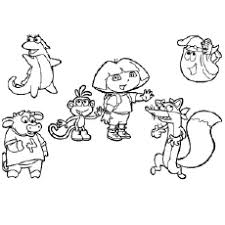 Dora And Her Friends The In A Halloween Coloring Pages
