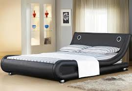 palmin italian designer modern leather bed with speakers