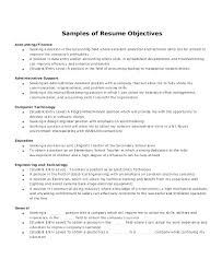 Resume Examples With Objective For Administrative