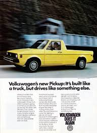 1980s Volkswagen Rabbit Pickup Yellow | Volkswagen | Pinterest ...