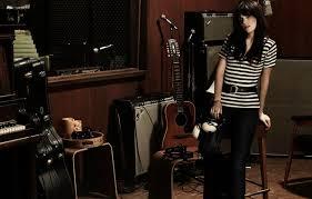 Photo Wallpaper Guitar Headphones Actress Brunette Singer Piano Acoustics