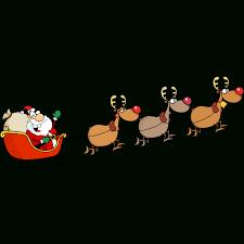 Sticker Noël Père Noël Joyeux Et Ses Rennes Stickers Fêtes à Image