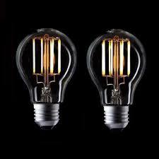 vintage led filament light bulb 6w 8w edison a19 style warm white