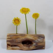 Flower Rustic Vase Found Wood