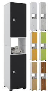 vcm hochschrank badschrank standschrank badregal badmöbel schrank intola 152 x 31 x 30 cm badezimmer regal vcm hochschrank intola farbe weiß