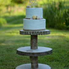 Rustic Wood Slice Cupcake Stand 3 Tier M H Woodland
