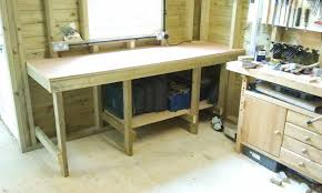 Shed Bench by Daisy Grace Wheels On The Dinghy And New Workbench In The Shed