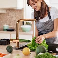 wasserhahn küche armatur ausziehbar 360 küchenarmatur spültischarmatur edelstahl farbe rohrauslauf gold