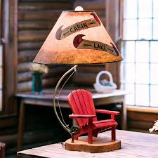 Rustic Lamps Cabin Lighting Black Forest DACcor Southwest Style Table 15 Inch Lamp