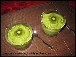 mousse d avocat aux kiwis et citron vert ma cuisine