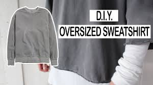 diy oversized sweater men u0027s fashion youtube