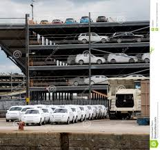 100 Wrapped Trucks Cars And Await Export From Docks UK Editorial
