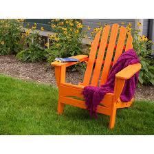 Polywood Adirondack Chairs Folding by Polywood Classic Folding Patio Adirondack Chair Orange Target
