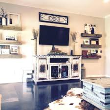 Living Room Floating Shelves Love Barn Wood Rustic Media