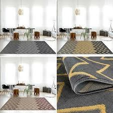 teppich kurzflor wohnzimmerteppich grau gelb braun muster