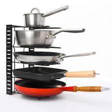 pfannen organizer mit 5 ablagen topfdeckel aufbewahrung küche topf regal