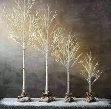 Lighted Birch Tree Restoration Forest