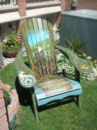 Custom Painted Margaritaville Adirondack Chairs by Bass With Dragonfly On Muskoka Chair Painting By Leslie Vallier