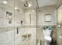 chicago shower tile bathroom traditional with metal look