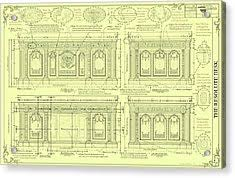 Resolute Desk Replica Plans by The Resolute Desk Blueprints Soft Yellow Drawing By Kenneth Perez