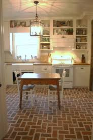 cabinet brick floor in kitchen best kitchen and dining room